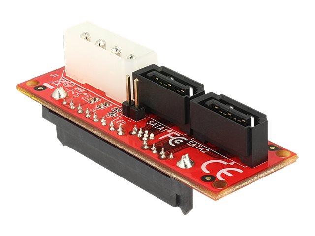 62469 - Controller voor opslag - Adapter SAS HDD naar 2 x SATA - SAS 6Gb/s - 6 Gbit/s - SATA 6Gb/s - rood