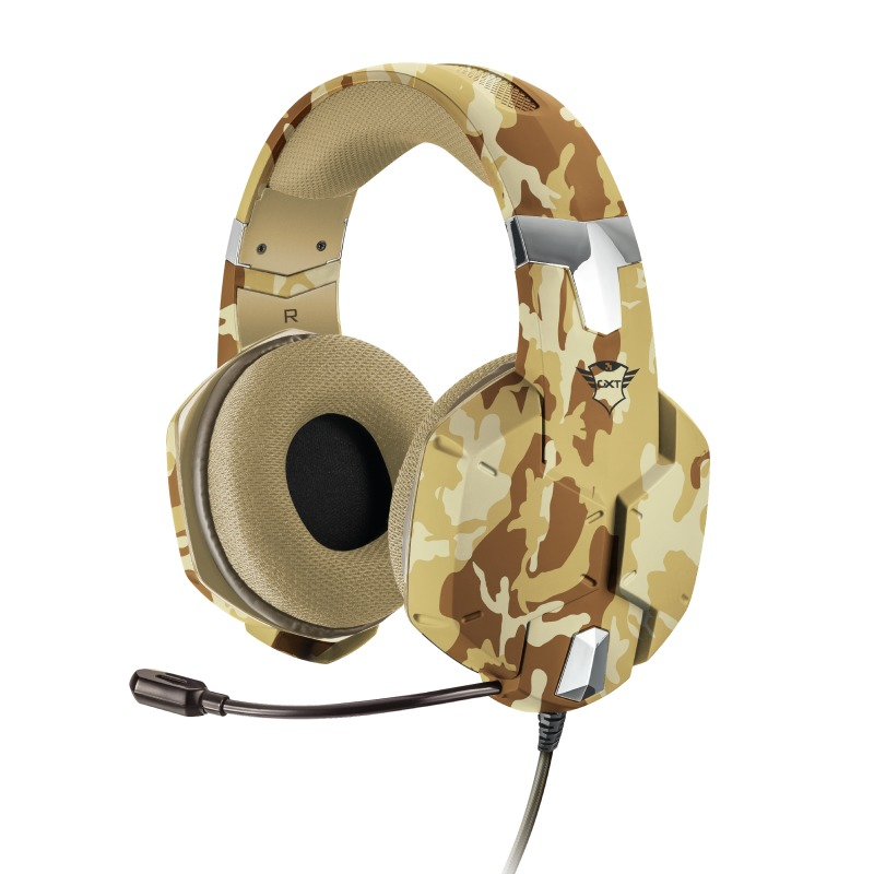 Trust GXT 322D Carus Gaming Headset - Desert Camouflage Headset