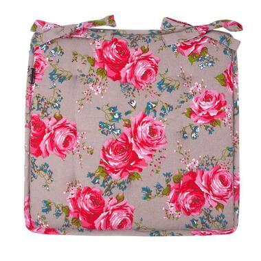 Zitkussen Rosemary - roze - 40x40 cm - Leen Bakker