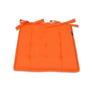 Zitkussen Tivoli Bistro - mandarijn - 40x40 cm - Leen Bakker
