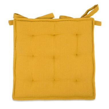 Zitkussen Tivoli Bistro - geel - 40x40 cm - Leen Bakker