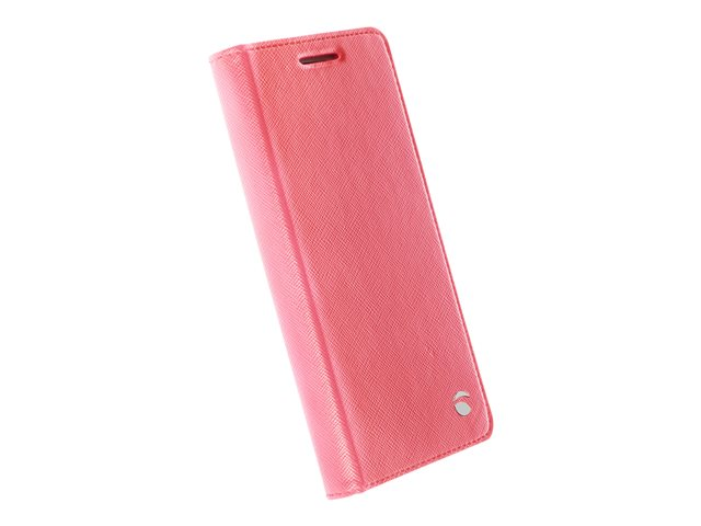 Malmö FolioCase - Flip cover voor mobiele telefoon - polyurethaan - roze - voor Samsung Galaxy S7