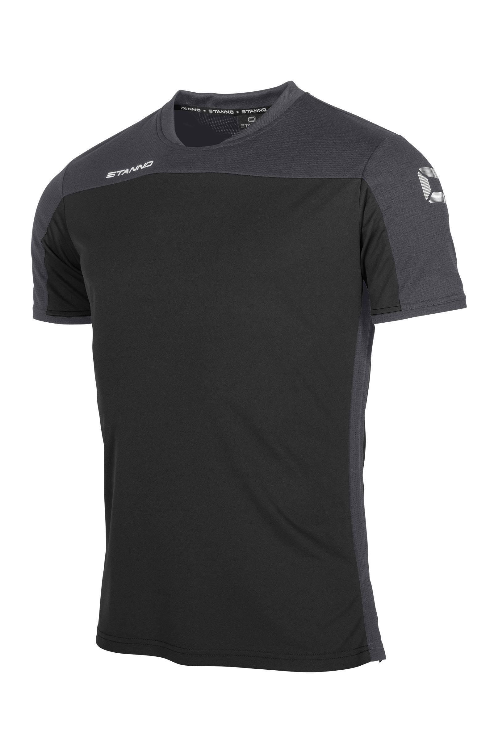 Stanno voetbalshirt zwart/antraciet - maat 140