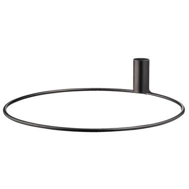 Kandelaar Seppe - metaal - zwart - 25,5x5,5 cm - Leen Bakker