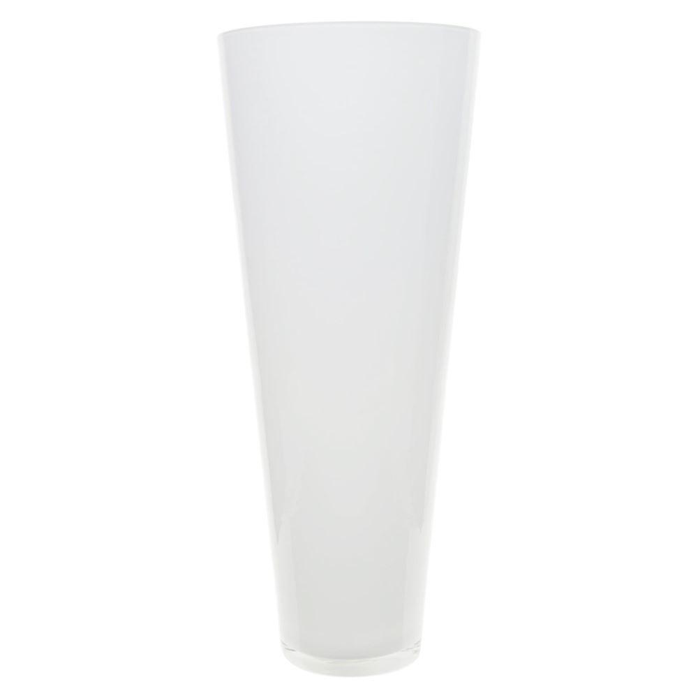 Conische bloemen vaas/vazen mat glas 43 cm hoog -