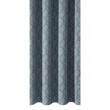 Gordijnstof Reims - grijsblauw - Leen Bakker