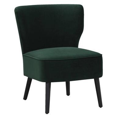 Fauteuil Hasvik Stax - velvet 15 groen - Leen Bakker