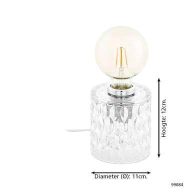 EGLO tafellamp Cercamar - transparant - Leen Bakker
