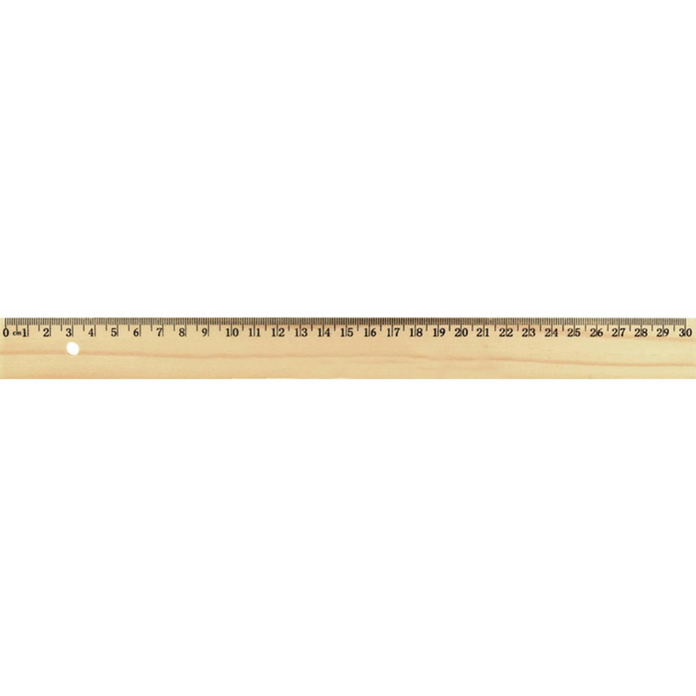 Liniaal Westcott 30cm Hout Zonder Metaalinleg