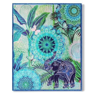 Hip plaid Isara - blauw - 130x160 cm - Leen Bakker