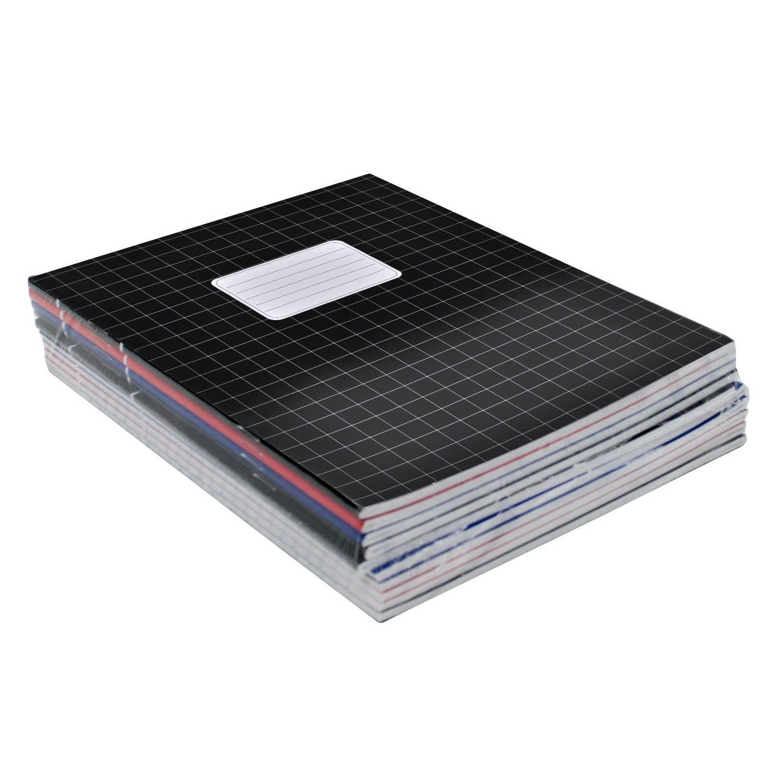 10x Stuks School Schriften Gekleurd A5 Ruitjes 10 Mm - Ruitjes Schriften