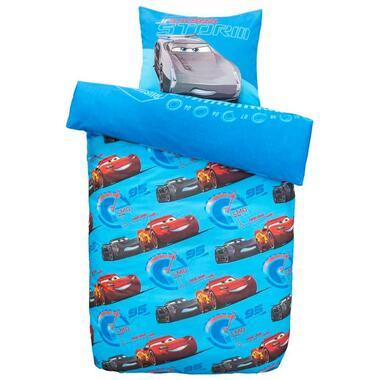 Comfort Disney kinderdekbedovertrek Cars - blauw - 140x200 cm - Leen Bakker
