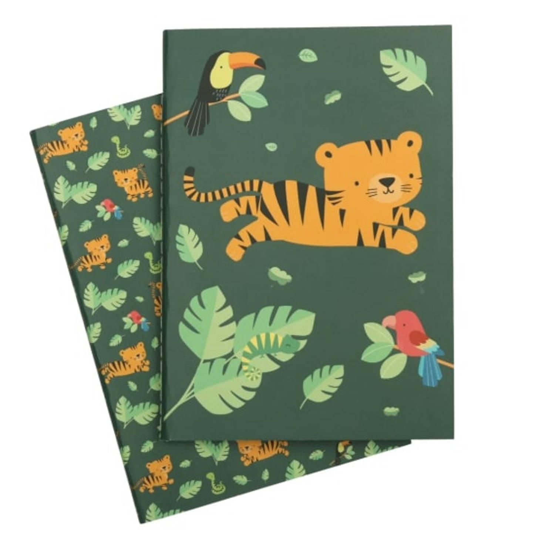 A Little Lovely Company Schriftjes Jungle 21 Cm Papier Groen 2-delig