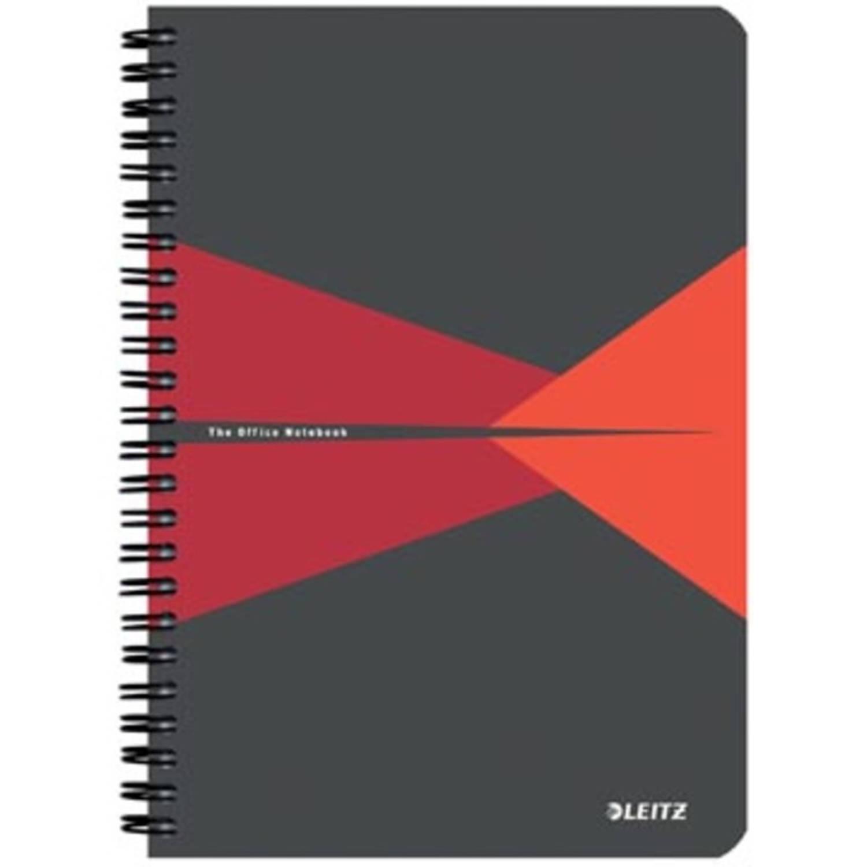 Leitz Office Notitieboek, Ft A5, Gelijnd, Rood