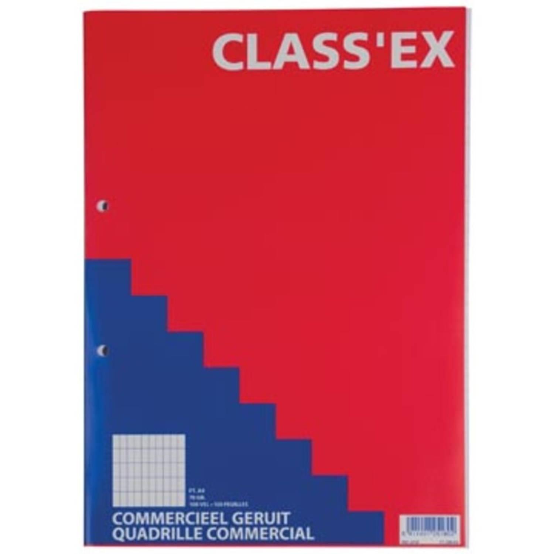 Class'ex Cursusblok, Commercieel Geruit, Blok Van 100 Vel