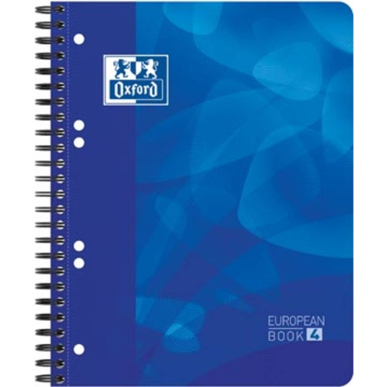 Oxford Projectbook Voor Ft A5+, Gelijnd, 6-gaatsperforatie, Blauw