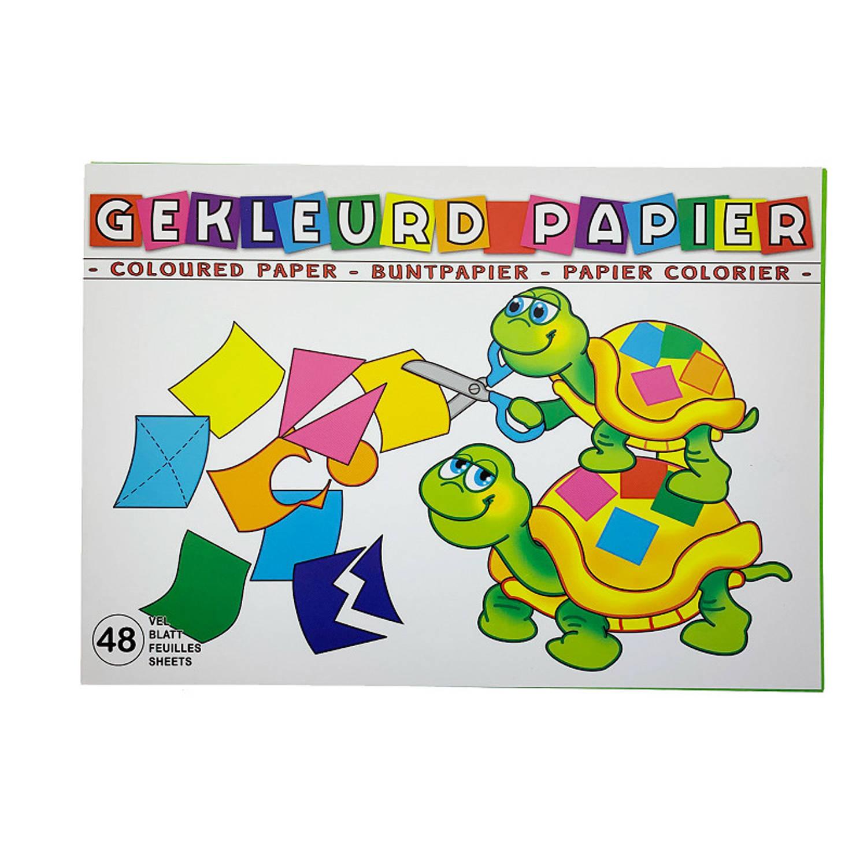 Blok Gekleurd Papier 48 Vel