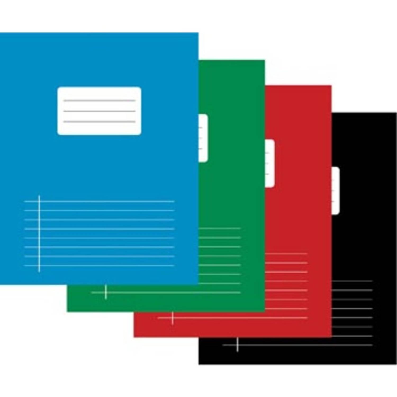 Schrift Voor Ft A5, Gelijnd, 80 Bladzijden, Met Voorlijn, Geassorteerde Kleuren, Pak Van 10 Stuks