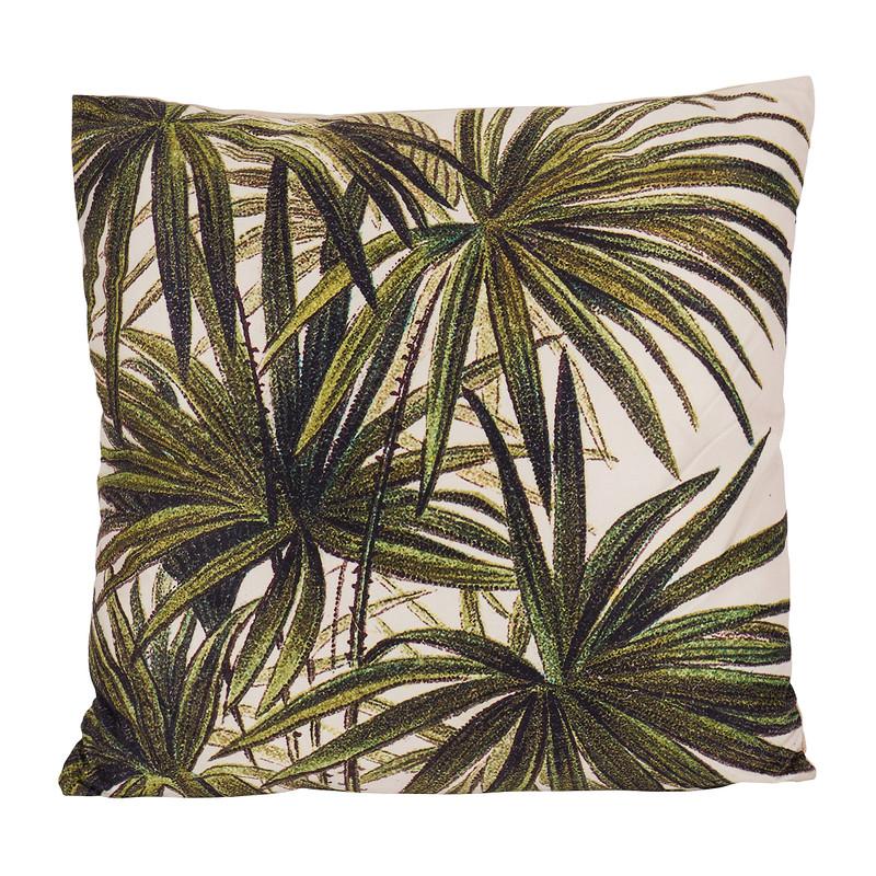 Kussen velvet palm - katoen - 45x45 cm