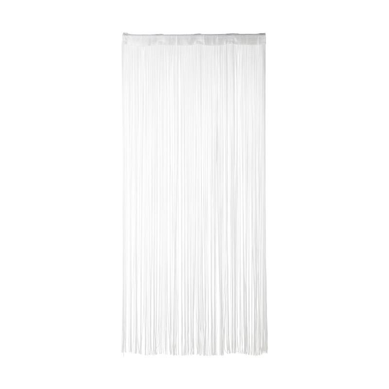 Spaghetti deurgordijn - wit - 90x200 cm