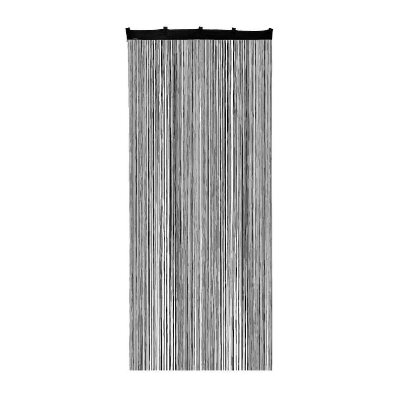 Spaghetti deurgordijn - zwart - 90x200 cm