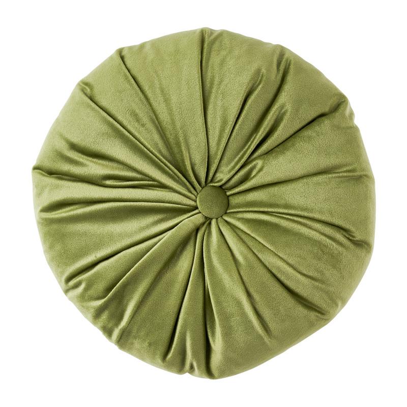Sierkussen velvet - groen - ⌀28 cm
