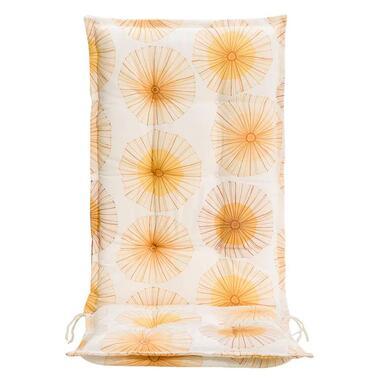 Terrasstoelkussen Dandy - geel - 123x50x8 cm - Leen Bakker