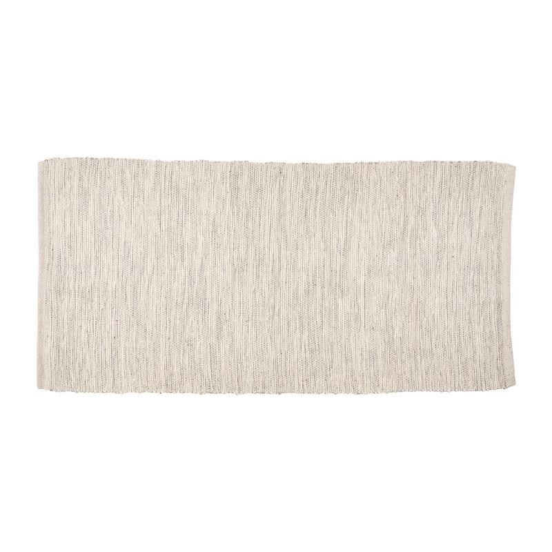 Vloerkleed - naturel/grijs - 70x140 cm