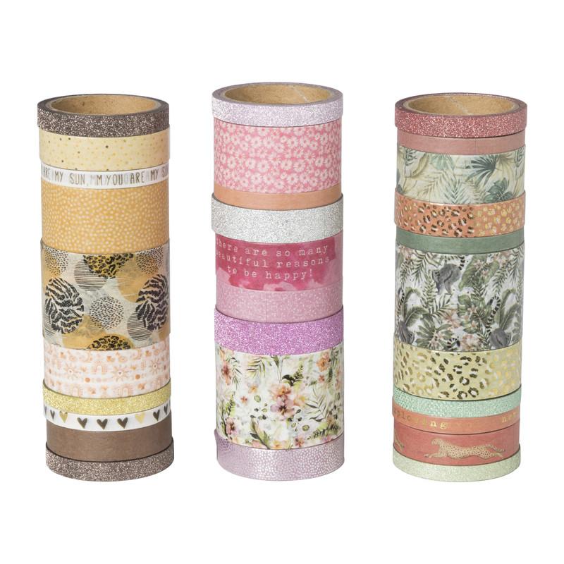 Washi tape in box - set van 30