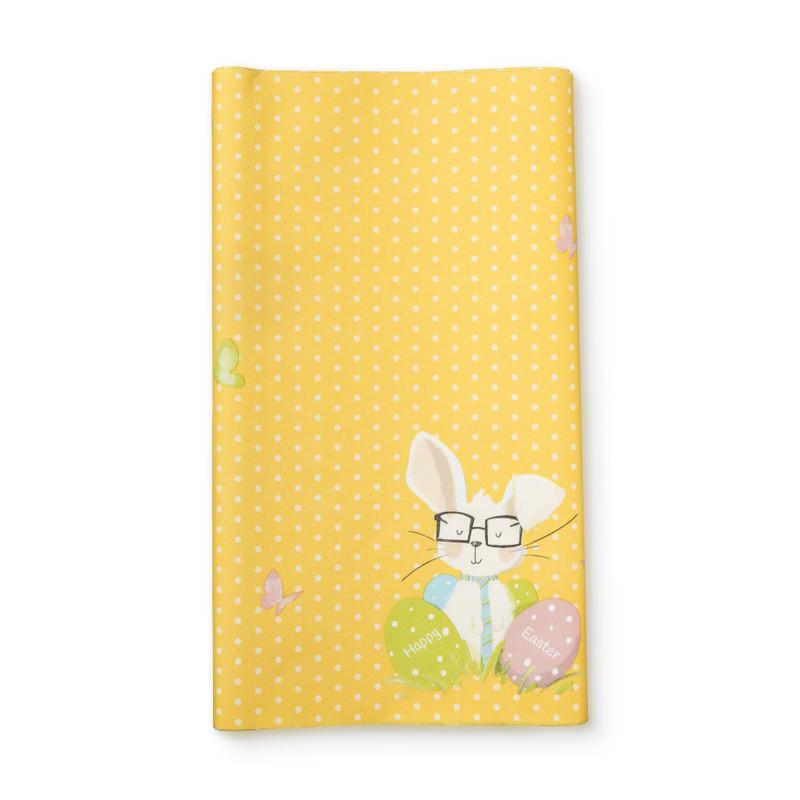 Tafellaken konijn - geel - 220x138 cm