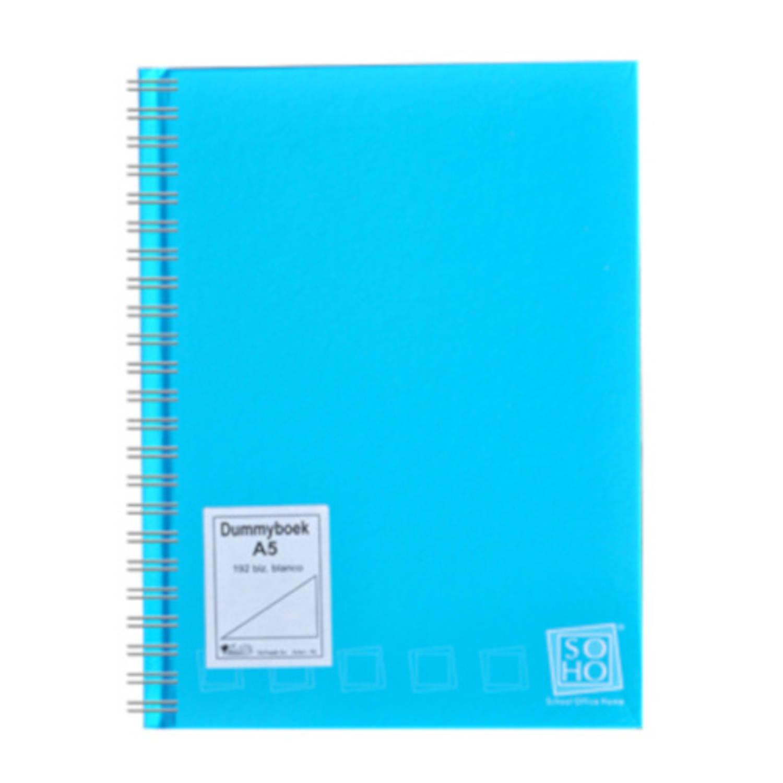 Soho Dummyboek Met Spiraal A5 Papier Blauw