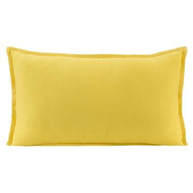 Sierkussen Owen - geel - 30x50 cm - Leen Bakker