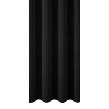 Gordijnstof Xanten - zwart - Leen Bakker