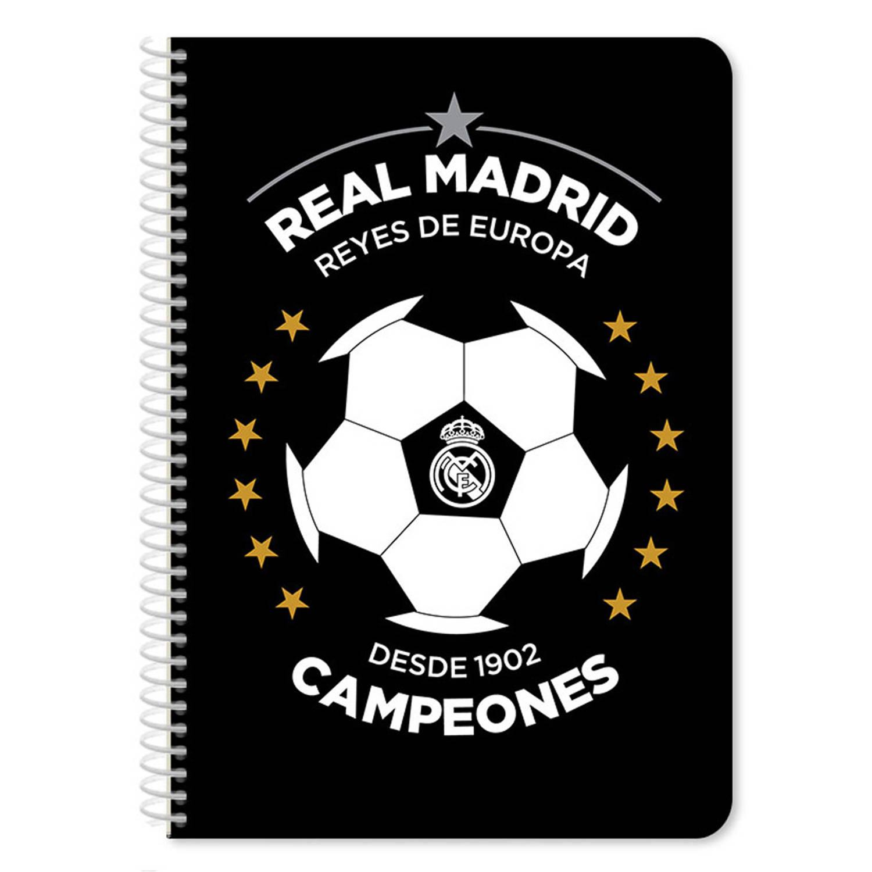 Real Madrid Schrift Junior 17 X 25 Cm Papier Zwart