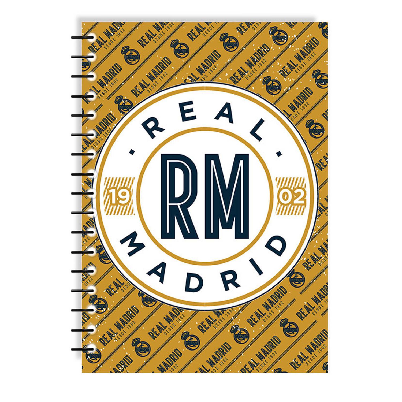 Real Madrid Schrift Junior 17 X 25 Cm Papier Bruin