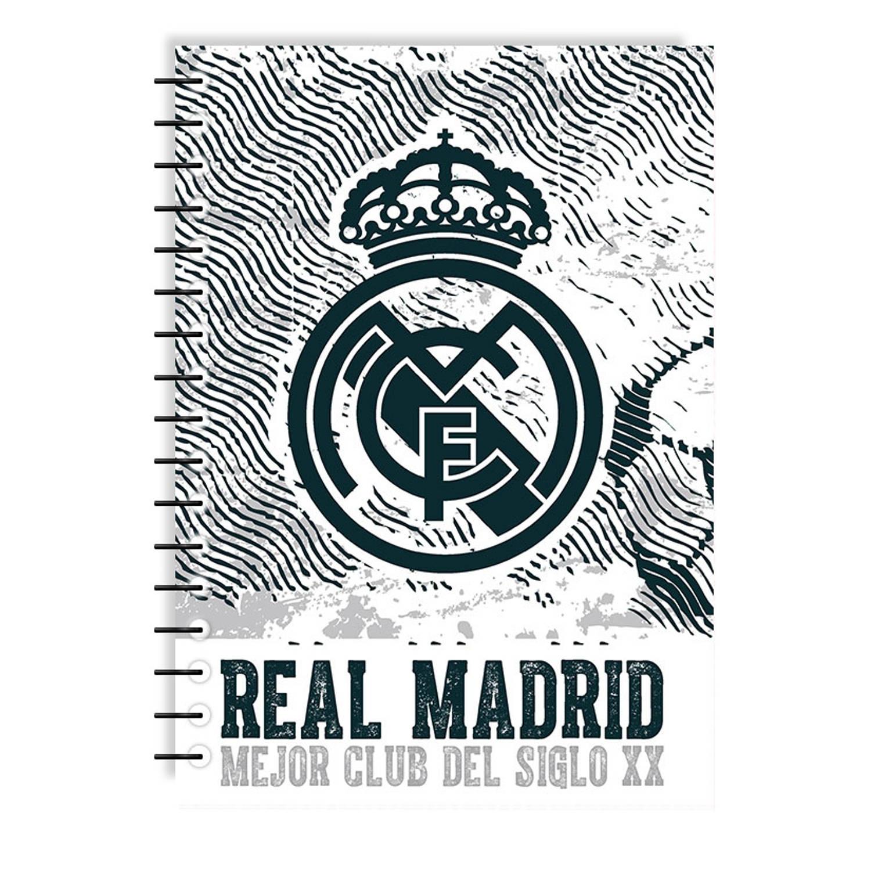 Real Madrid Schrift Junior 17 X 25 Cm Papier Wit