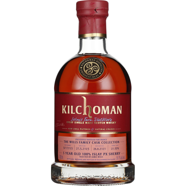 Kilchoman 5 years 2015 Family Cask Collection James Wills 70CL