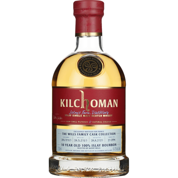 Kilchoman 10 years 2010 Family Cask Collection Kathy Wills 70CL