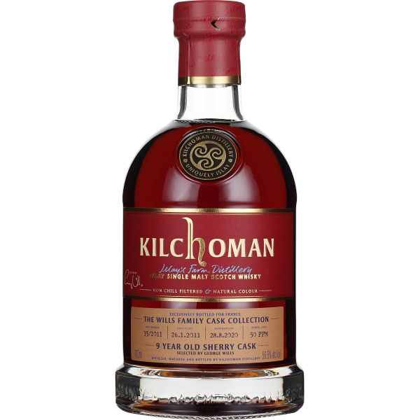 Kilchoman 9 years 2011 Family Cask Collection George Wills 70CL
