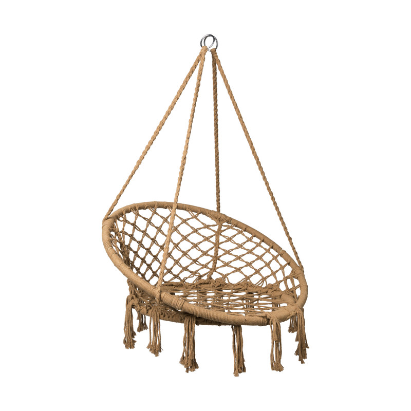 Hangstoel knoet - bruin - ⌀80x100 cm
