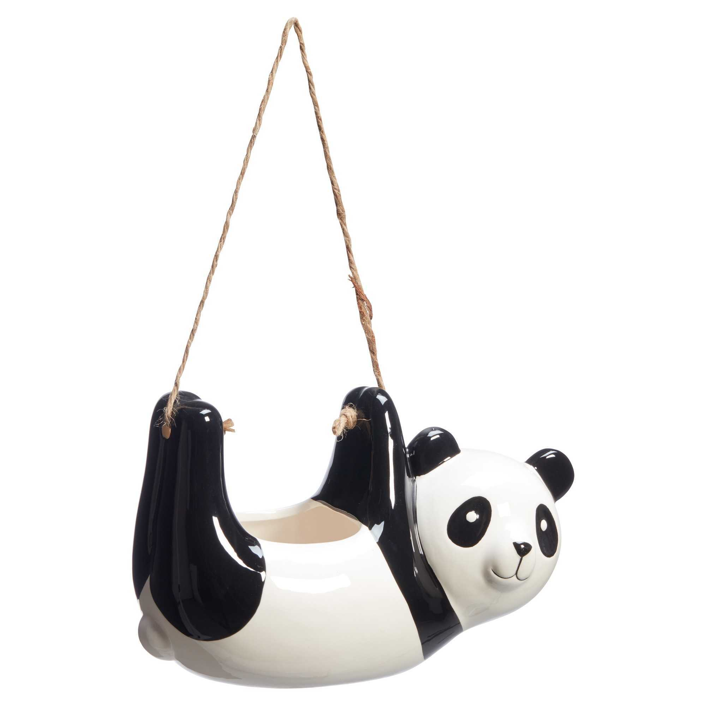Hangpot Panda Zwart