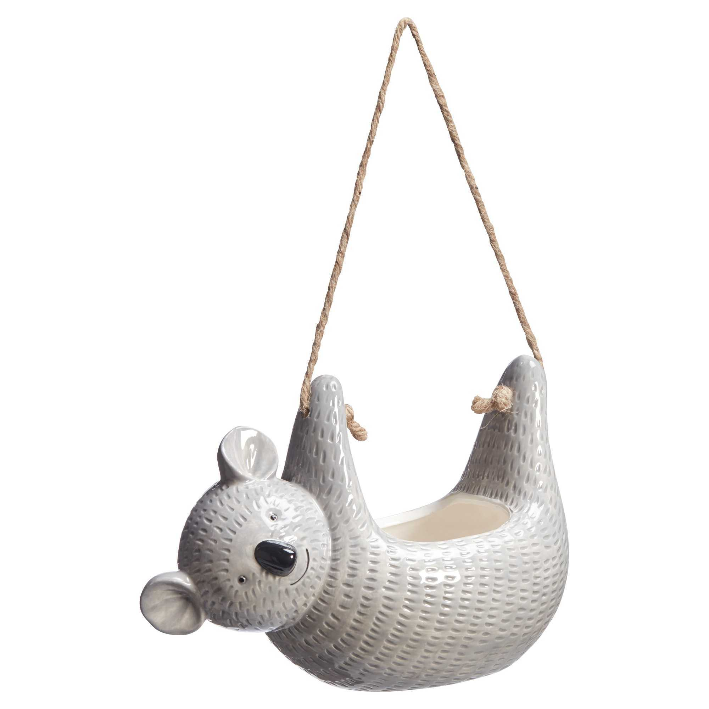 Hangpot Koala Grijs