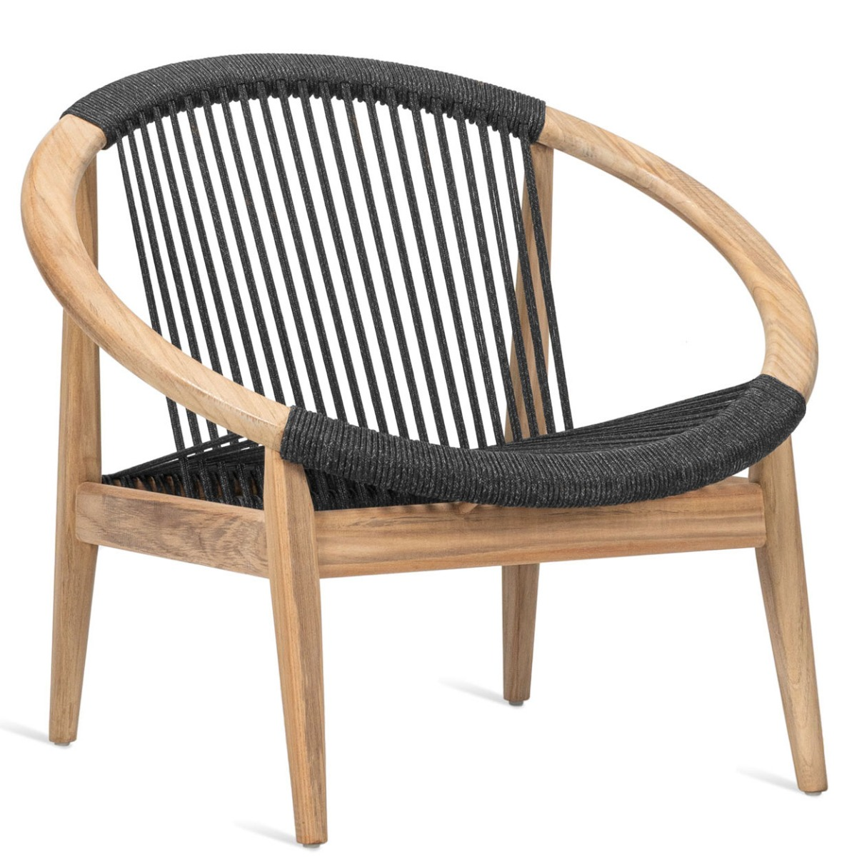 Vincent Sheppard Frida Loungestoel? Outdoor Lounge Chair ? Antraciet - Teakhout