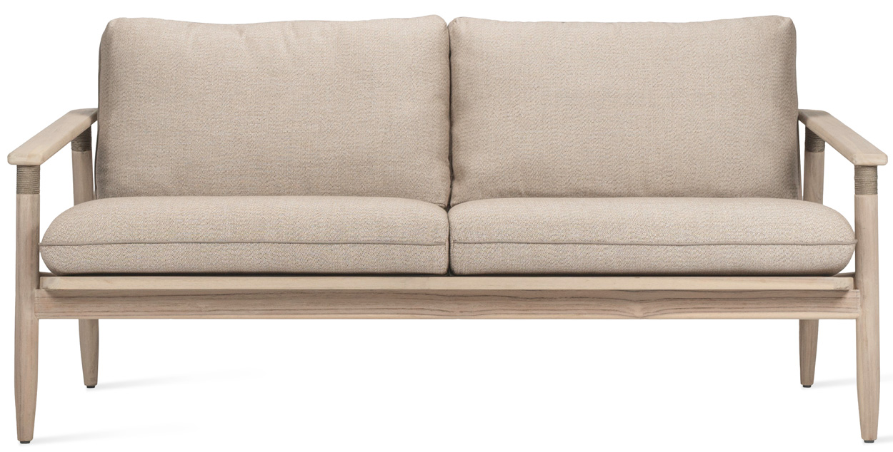 Vincent Sheppard David Rope - Lounge Sofa 2 Zits - Teakhout - Inclusief Kussenset