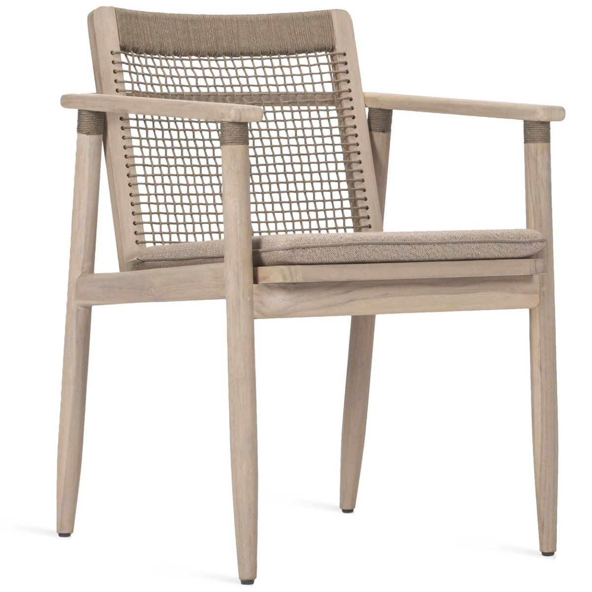 Vincent Sheppard David - Outdoor Dining Chair - Aged Teak - Inclusief Zitkussen