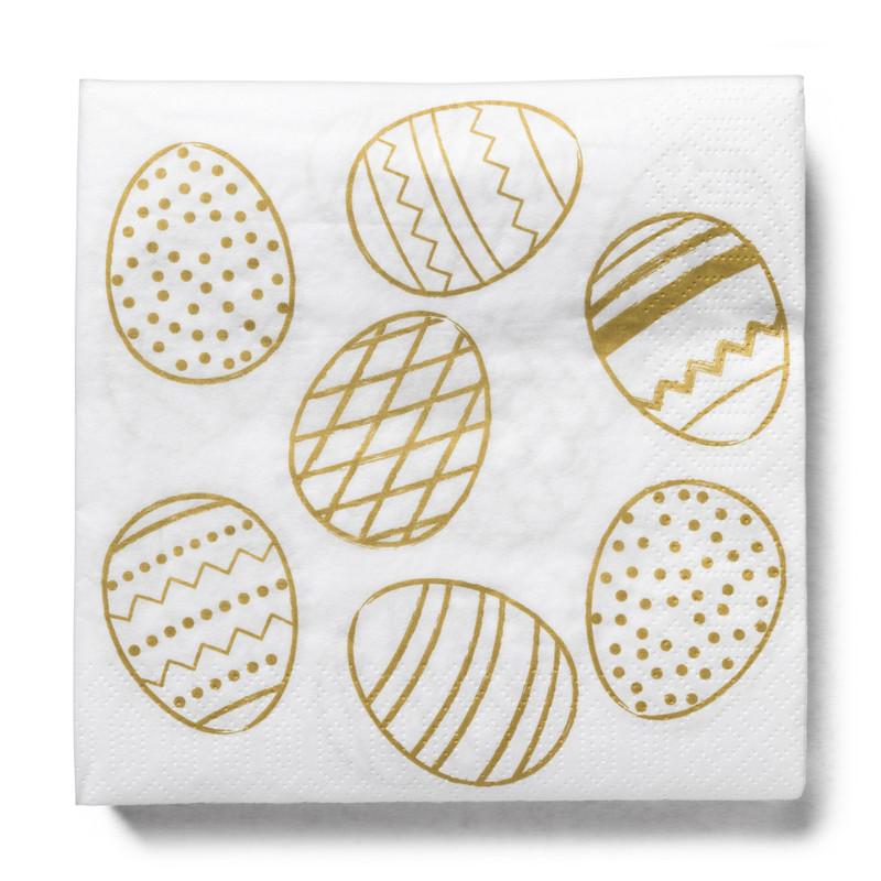 Gouden ei tafelkleed en servetten - combiset