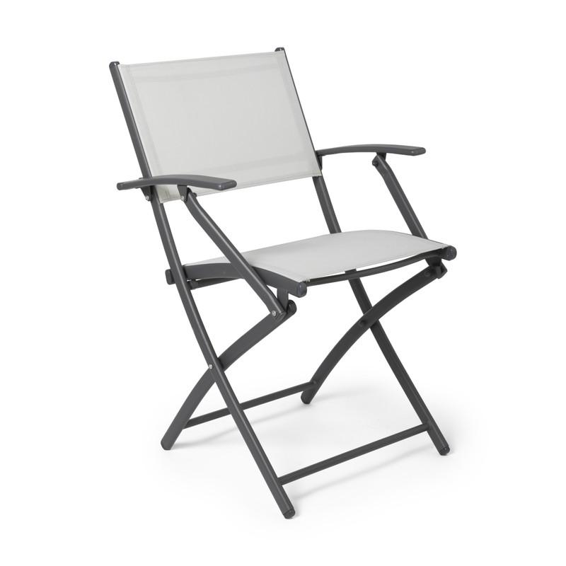 Vouwstoel - wit - met armleuning - 46x52x85 cm