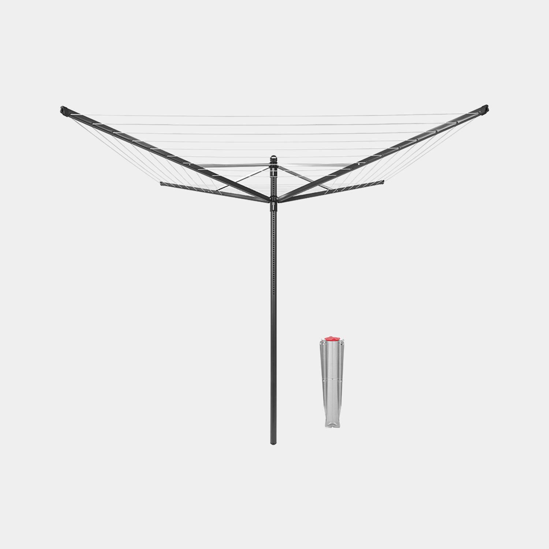 Brabantia Lift-o-matic Droogmolen 50 Meter Met Metalen Grondanker - Anthracite