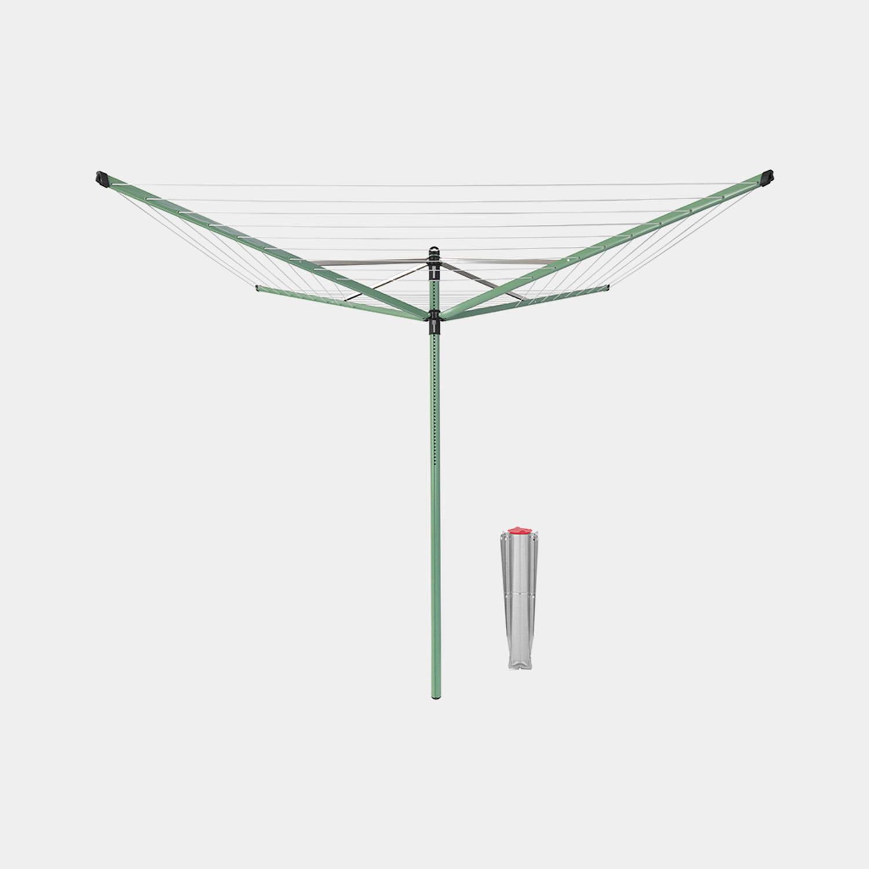 Brabantia Lift-o-matic Droogmolen 50 Meter Met Metalen Grondanker - Leaf Green