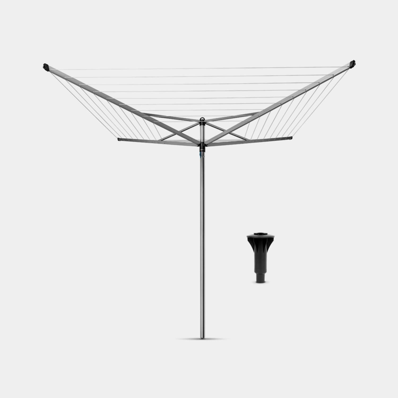 Brabantia Topspinner Droogmolen 40 Meter Met Kunststof Betonanker - Metallic Grey